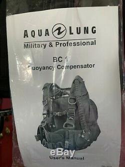 AQUA LUNG BC1 BCD Scuba Diver Buoyancy Compensator Size LARGE (BRAND NEW!)