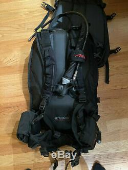 Aeris JETPACK Scuba Dive BCD, Travel BC, Surelock Weight Integrated (30 lb lift)