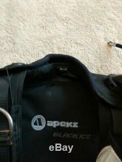 Apeks Black Ice Scuba Diving BC Black Medium/Large