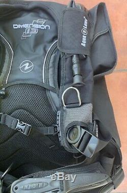 Aqua Lung Dimension i3 Scuba Diving BCD Dive Vest In L. (Excellent condition)