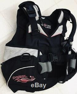Aqua Lung Seaquest Size XS Pearl BCD SureLock II Weight System Extra Small