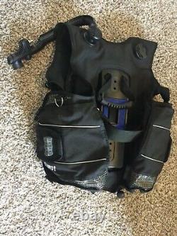 Aqua lung Seaquest pro QD mens black M / L Scuba bc diving equipment buoyancy