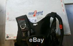 Aqualung Pro Lt Bcd Size M-l With Air Source Regulator/ Inflator