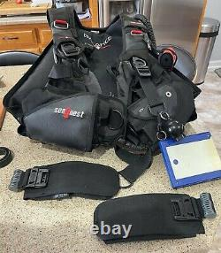 Aqualung Seaquest BALANCE SCUBA BCD, Size XL BC, Weight Integrated plus extras