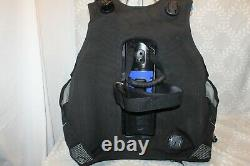 Aqualung Seaquest Pro QD+ BCD with Air Source Inflator, Hose Size Large Excellent