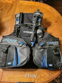 Cressi Aquapro 5 BCD Jacket Style, XL, Blue/Black, Used. Scuba Diving
