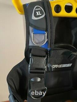 Cressi Scuba BCD Aquapro 5 Black /Blue Excellent Cond. Adult XL