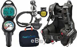 Cressi Start Pro 2.0 Scuba Diving Gear Package Assembled GUpG Reg Bag