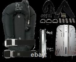 DRIS Dive Right in Scuba 28lb Backplate and Wing System with Harness