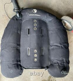 Deep Outdoors Scuba Dive BCD With Backplate Setup For Doubles 85 Pound Lift Wing