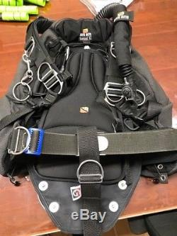 Dive Rite Nomad XT Sidemount BCD Scuba Diving with weight plate and bungees Large