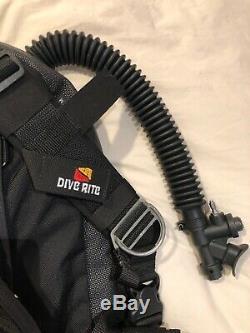 Dive Rite TransPac XT Medium BCD Travel XT Wing Weight Pockets Bundle USA