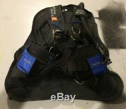 Dive Rite Transpac Harness XS/S with Weight Pockets and TravelWings BCD