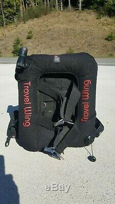 Dive Rite Transpac Travel Wing BCD with Backplate, Size Large, Scuba Diving Dive