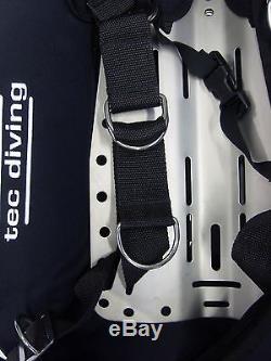 Doubles Tec Diving Bcd Harness 40 Lb Lift Wing Ss Backplate Tech Scuba Dive