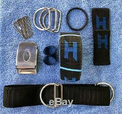 Halcyon Aluminum Technical Dive Backplate and Harness with Knife Sheath