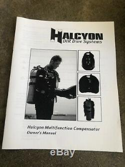 Halcyon DIR Dive MC System Scuba Dive BCD, Backplate, Pioneer Wing, Size XL BC