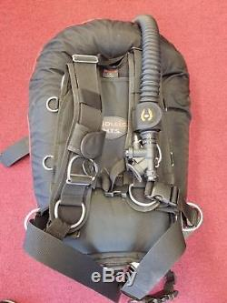 Hollis Backplate System Elite II with S38LX Wing Size Medium Scuba Tech Diving