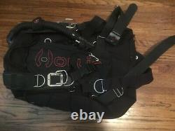 Hollis sms 100 size S/M used including weight pouch and rear tank adapter