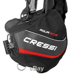 Jacket Cressi Sub Aquaride Con Tasche Piombi Tg Large Dive Bcd Lock-aid System