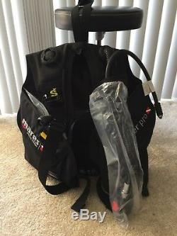Mares Scuba BCD Rover Pro DC scuba tank backpack, Black, XSmall (sku 417350)