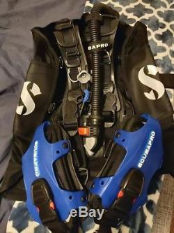 New Men's Medium Blue ScubaPro Hydros Pro BCD