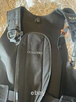 Oceanic OceanPro QRL3 BCD Scuba Vest Jacket with Weight Pockets Large