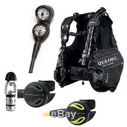 Oceanic Scuba Diver Package OceanPro BC Depth/PSI Gauge Alpha 8 Regulator & Octo