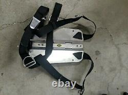 Oxycheq SCUBA Stainless Backplate and Harness