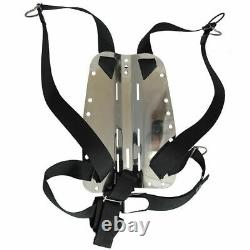Palantic Scuba Dive Techical Diving SS Backplate with Harness & Crotch Strap