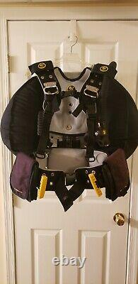 Poseidon One Diving Harness with Besea W100 BCD and 10 lbs of weights