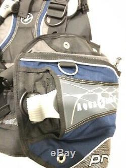Preowned Seaquest AQUA LUNG PRO QD BCD Wraparound Diving vest Size Medium