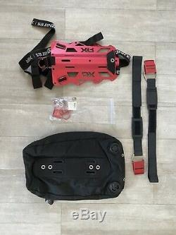Rare Limited Edition SCUBA Mares RED DEVIL Single Backplate and Wing Set XR Line
