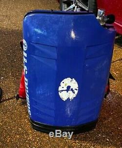 Rare US Diver Combination back around back sleek 90 CU FT Tank with Lg BC