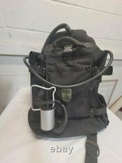 Red Tech Military BCD for Rebreather, Large, with Waterproof Backpack and More