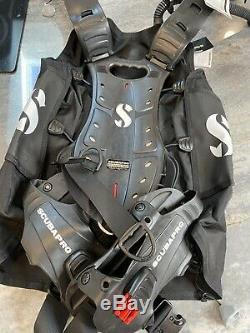 SCUBAPRO HYDROS PRO BC with AIR 2 MENS SizeLarge ColorBlack NEW in bag