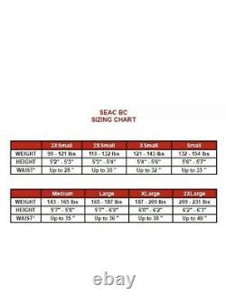 SEAC Nick Buoyancy Compensator, Black, Small NEW BCD Dive Vest Jacket