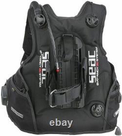 SEAC Pro 2000 BCD Scuba Diving Buoyancy Compensator in Black, Size XL Brand New