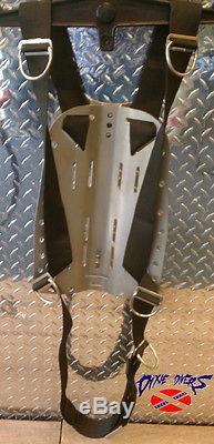 SOPRAS Stainless Steel Backplate 3mm Hogarthian Style Tech Harness Double Single