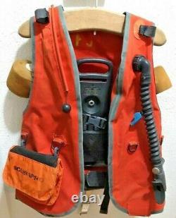 ScubaPro SCUBA Diving Buoyancy Stabilizing Adjustable Vest Size Medium Orange