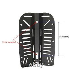 Scuba Diving Carbon Fiber Backplate Fit Donut 30Lbs Wing with Hole Center D X9K6