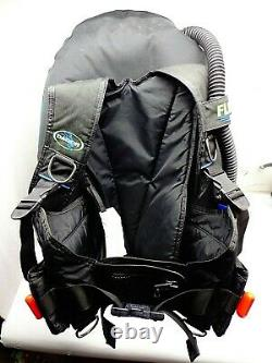 Scuba Diving Dive BCD Size MEDIUM Dacor Flyt Pak Weight Integrated Back Inflate