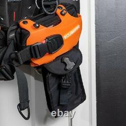 Scubapro Hydros Pro BCD Mens Large, Air 2 Combo Inflator Regulator, Black Orange