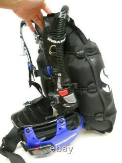 Scubapro Hydros Pro BCD, Mens Small, Air 2 Combo Inflator Regulator, Black Blue