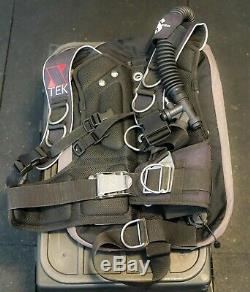 Scubapro Xtek Harness, Stainless Steel Backplate and Dive Rite wing