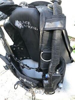 SeaQuest Aqua Lung Black Diamond Back Inflation BCD, Size = Large