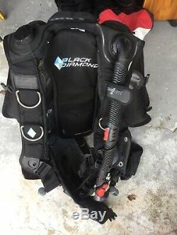 SeaQuest Black Diamond BCD XL With aqua Lung Air source Inflator