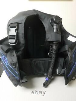 SeaQuest Spectrum 2 ADV Black Scuba Diving BCD Size medium Plus Hose never wet