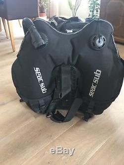 Seac Sub Pro 3000 Jacket Größe L nur 60 Tauchgänge mit Messer von Aquatec