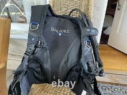 Seaquest Aqualung Balance BCD Large, Weight Integrated Scuba Dive BC, Airsource
